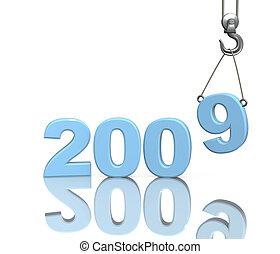 3d figures 2009 of blue color