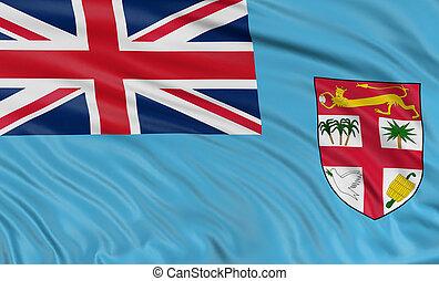 3D Fiji flag - 3D Fiji Flag with fabric surface texture....
