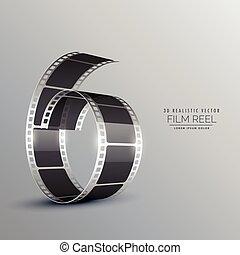 3d film reel background