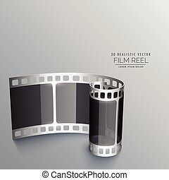 3d film reel strip background