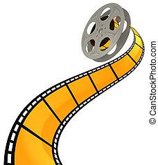3D FILM SPIRAL - High quality filmstrip 3D render. Great for...