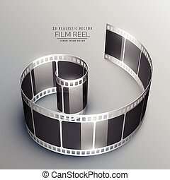 3d film strip vector background