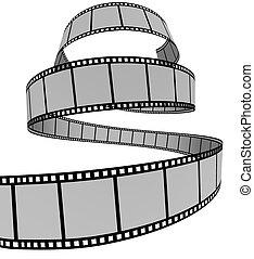 Film Strip - 3d Film Strip. White background. Digitally...