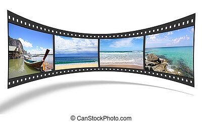 3D film strip with nice pictures of andaman scene