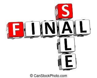 3D Final Sale Crossword