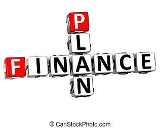3D Finance Plan Crossword cube words