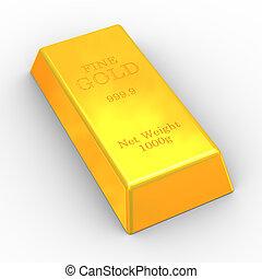 3d fine gold bar