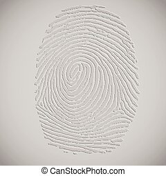 3D fingerprint illustration, vector