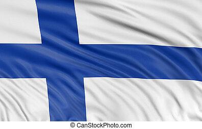3D Finnish flag