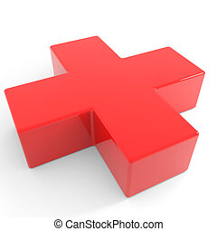 3D first aid medical sign.