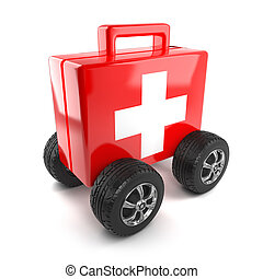3d First aid on wheels