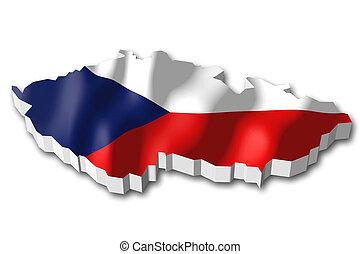 3D flag - Czech Republic