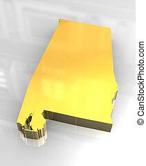 3d flag golden of Alabama