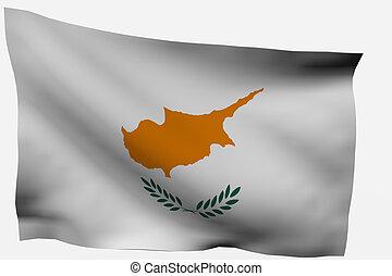 3d flag isolated on white