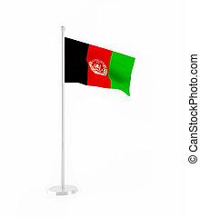 3D flag of Afghanistan