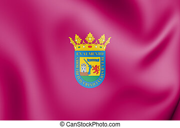 3D Flag of Alava province (Basque country), Spain. 3D Illustration.