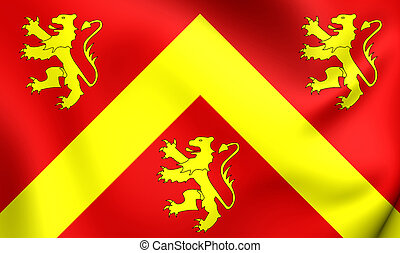 Flag of Anglesey, Wales.