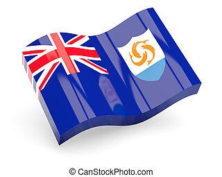 3d flag of Anguilla