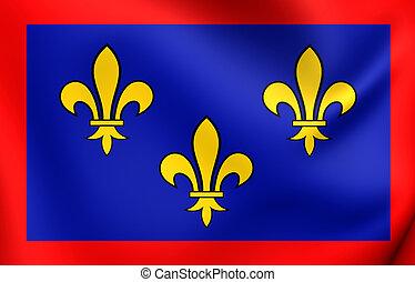 Flag of Anjou, France. - 3D Flag of Anjou, France. Close Up....