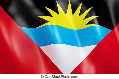 3D Flag of Antigua and Barbuda.