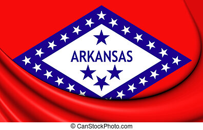 Flag of Arkansas, USA.