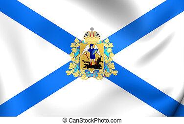 Flag of Arkhangelsk Oblast, Russia.