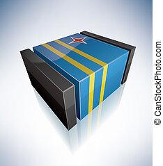 3D flag of Aruba