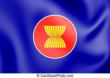3D Flag of ASEAN.