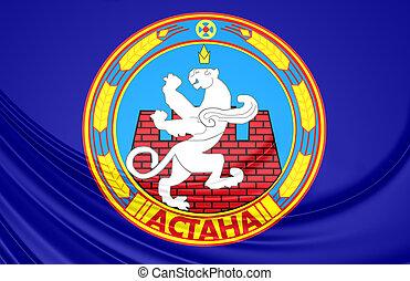 Flag of Astana, Kazakhstan.