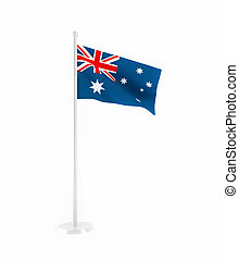 3D flag of Australia isolated on white