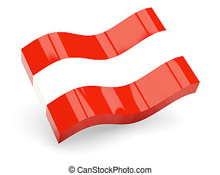 3d flag of Austria