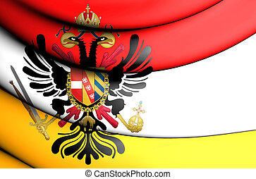 3D Flag of Austrian Low Countries. 3D Illustration.