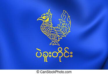 Flag of Bago Region, Myanmar.