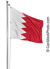 3D Flag of Bahrain