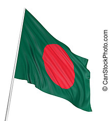 3D Flag of Bangladesh