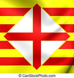 Flag of Barcelona Province, Spain.