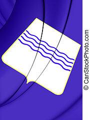 Flag of Basilicata Region, Italy.