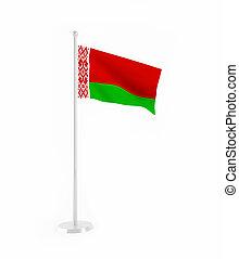 3D flag of Belarus