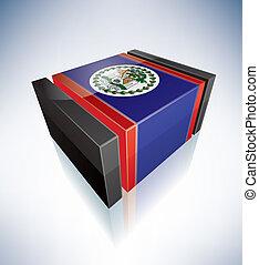 3D flag of Belize