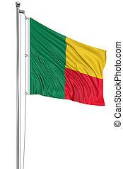 3D Flag of Benin