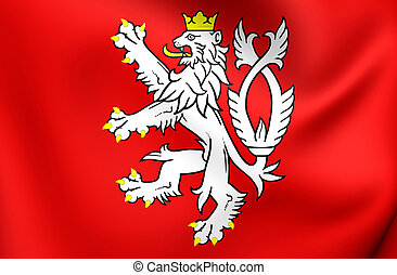 Flag of Bohemia (Coat of Arms), Czech Republic.