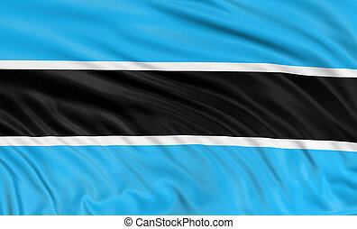 3D Flag of Botswana