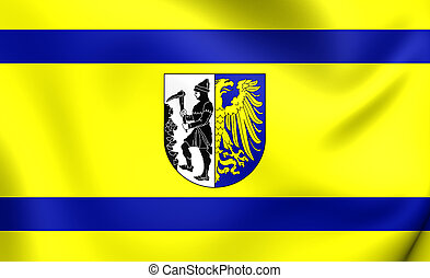 Flag of Bytom City, Poland.