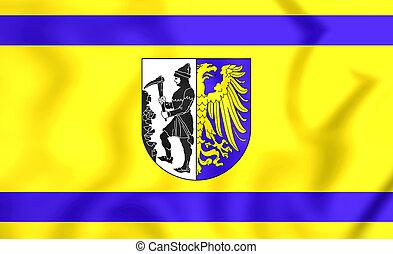 Flag of Bytom (Silesian Voivodeship), Poland.