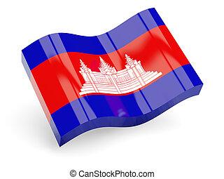 3d flag of Cambodia