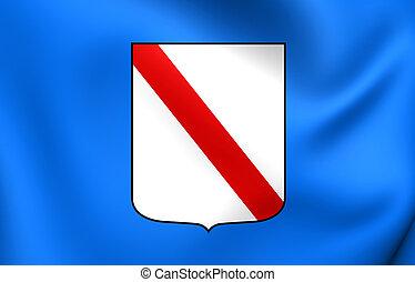 Flag of Campania Region, Italy.