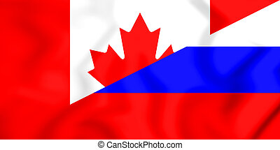 Flag of Canada and Russia