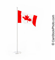 3D flag of Canada