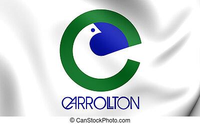 Flag of Carrollton City (Texas), USA.