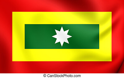 Flag of Cartagena City, Colombia.